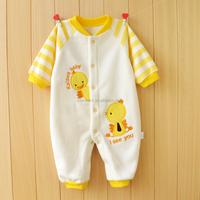 Baby 1 Year Old Bodysuit Clothes Cute Duck Stripe Long Sleeve Kids Romper