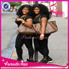 6A Natural black hair bun synthetic hair wig