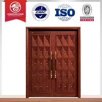 fancy exterior solid wood double entry doors