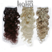 Long full head afro kinky curly clip in hair extensions