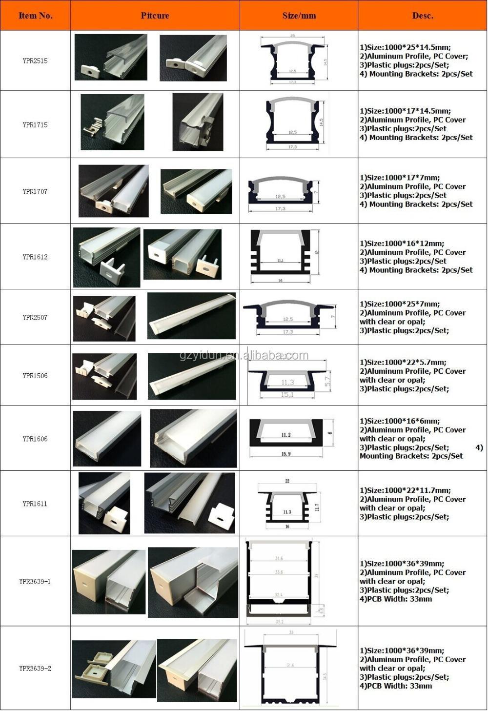 alibaba 중국 타원형 알루미늄 프로파일, 선형 프로필을 주도, 빛 ...