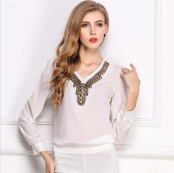 Vt178 nuevos modelos modelos para damas blusas moda diseño-Tallas ...