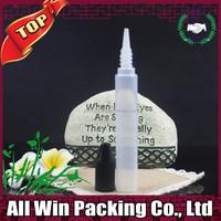 New design pen e liquid bottles black childproof cap 15ml PE plastic bottles