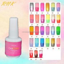 wholesaler nail polish RNK temperature change nail polish changing color glitter uv gel nail polish china glaze