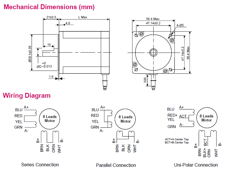 High torque nema 23 2 2 n m 2 phase stepper motor 57j1880 for Stepper motor torque control