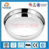 Indian style round stainless steel fruit plate / food tray