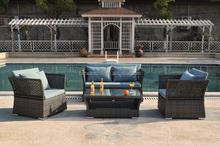 Outdoor Conversation Sets - Wicker, Aluminum & Tempered Glass