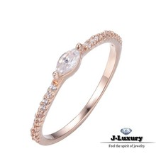 Fashion zircon copper rose gold low cost engagement rings