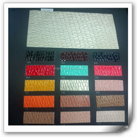 Fashion and Best Selling Patent Emboss Synthetic Pu Leather to make shoe uppers made in wenzhou
