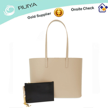 Fashion white Pebbled 100% genuine Leather swagger bag