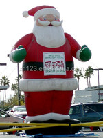 Attractive christmas decoration,large christmas inflatables, inflatable santa claus