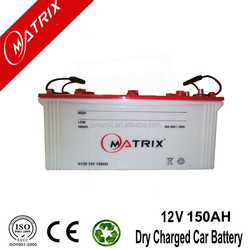 high quality Dry Charged automotive battery 12V 150AH