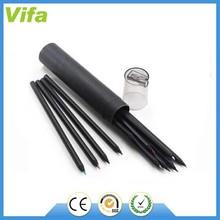natural wooden black pencil set