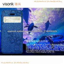 para el caso de cuero del iPhone 5C, para el iPhone 5C Flip funda de cuero