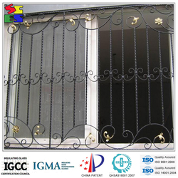 2015 most popular durable professional hot sale decorative wrought iron villa gate designs for gates