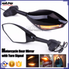 BJ-RM-016A For Yamaha YZF R3 R25 Black Motorcycle Mirror Turn Signal