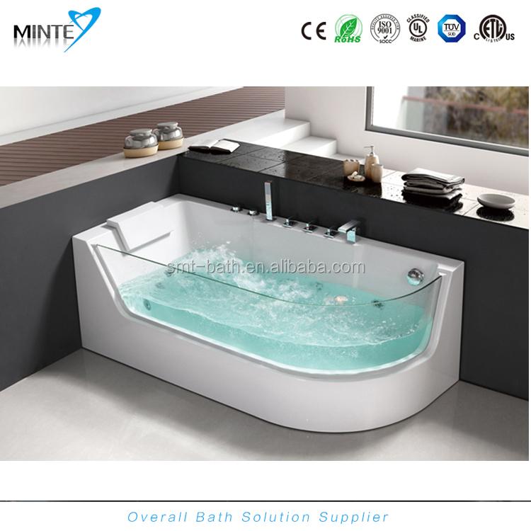 rectangular clear acrylic bathtub hydromassage spa