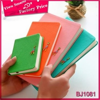 3 size 16K/32K/48K cute deer pu leather cover bound notebook