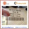 clothing &bag transparent PVC label sticker