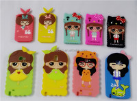 HOT 3D Classic Cartoon Animal Series Silicone Phone Cover Case for Sumsung Mobile
