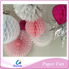 Party favor supply honeycomb ball tissue paper fan decoration colorful honyecomb fans