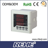 2014 NEWEST sell digital ampere meter three phase current meter RS485 modbus power quality data 60hz amper meter