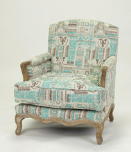 antique wood carved french style wooden armchair/single seat sofa(CH-299-OAK)