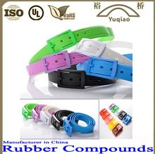 Hot! Promotion Silicone Belt Colorful Silicone Rubber Belt