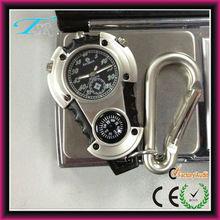 reloj mosquetón digital con reloj de material de porcelana de alta calidad