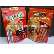 Custom printing plastic bag stand up pouch dog food bag