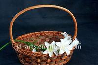 large oval wicker shopping basket