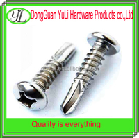 M4 standard white zinc plated hex cap head self tapping screw