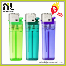 Refillable solid color butane gas lighter