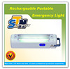 Emergency fluorescent cordless rechargeable led lamp