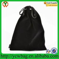Wholesale Cheap Black Velvet Cloth Jewelry Pouch Drawstring Bag