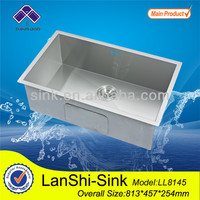 LL8145 bathroom handmade wash basin single kitchen sinks used commercial stainless steel sinks