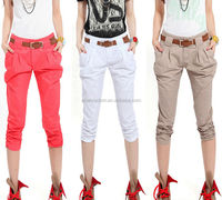 D35031A 2014 KOREA SUMMER NEW FASHION COTTON LADIES HAREM PANTS