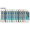 LOVE MEI Dual-color Style Hippocampal Buckle Metal Bumper Hard Case for iPhone 5/5S