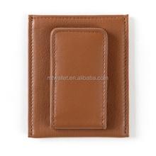 Genuine leather Magnetic Money Clip Wallet,Money Clip Card Case