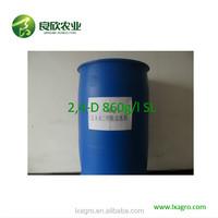 Agrochemical Selective Herbicide 2 4-D 860g/l Amine SL For Broadleaf Weed Control