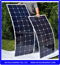 Hot sale new designed 23% high efficiency 100w solar flexible panel for RV/boats/marine from china directly
