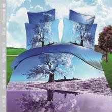 3d 100% cotton sateen quilt duvet covers set