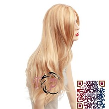 Fashionable smooth new natural curl blonde ombre human hair front lace wig
