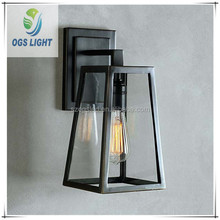 Retro wrought steel squirrel cage wall light/indoor lighting wall lamp 220-240v