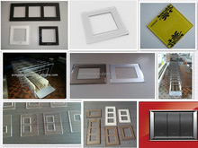 color printed ultra clear tempered glass plates for modular switch panels