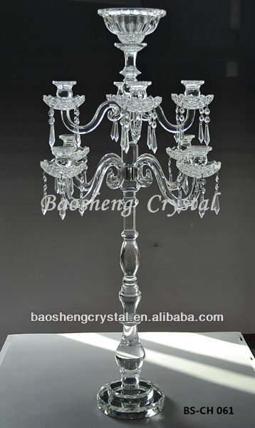 Wholesale tall centerpiece arms crystal candelabra