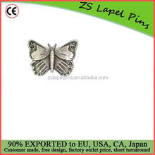 Personalized design Silver Butterfly Animal Lapel Pin