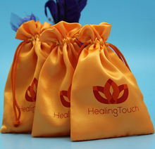 New Style Drawstring Satin Jewelry Pouch With Custom Printed Logo