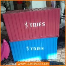 De fibra de vidrio personalizada casa de contenedores para la decoración