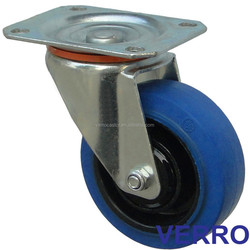 """4"""" swivel rubber castor wheel with top plate fitting widely used for trolley cart"""